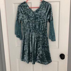 311a091b4e Kids  Green Velvet Dress on Poshmark